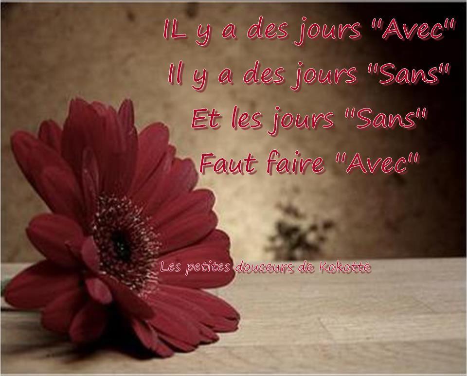 """Il y a des jours """"Avec"""" Il ya des jours """"Sans""""..."""