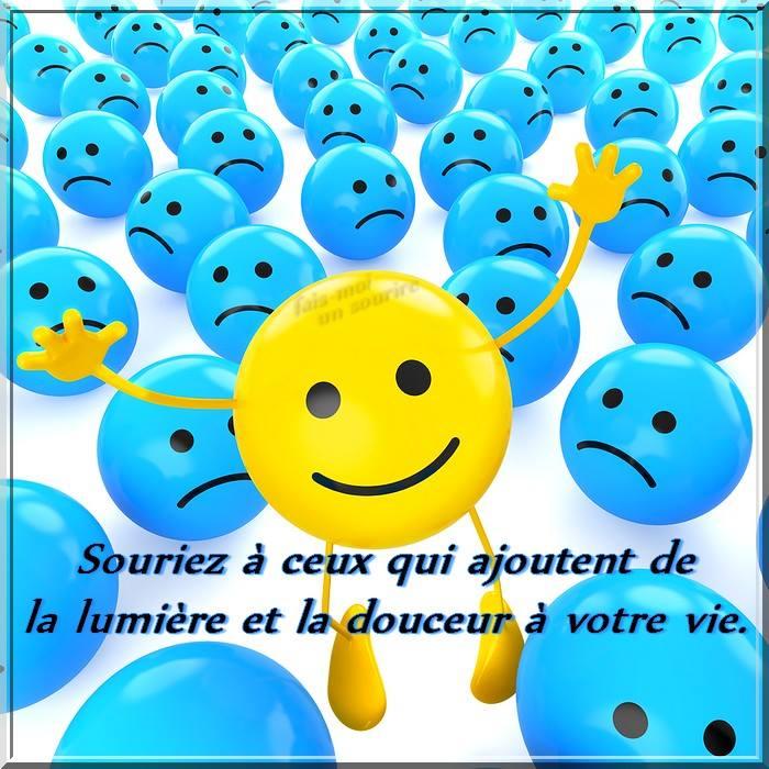 Souriez à ceux qui ajoutent de la lumière et la douceur à votre vie