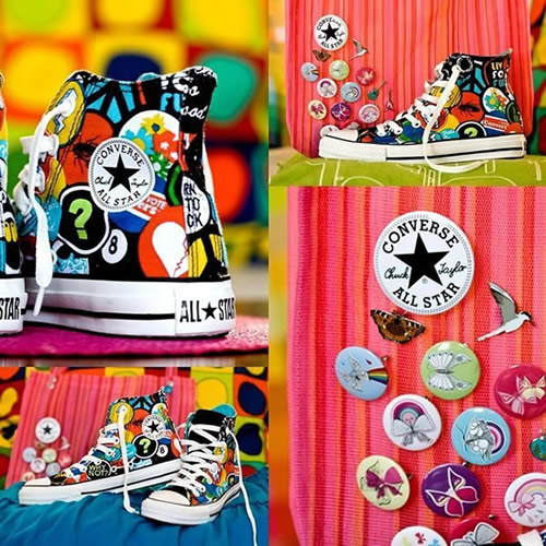 Converse multicolores pins