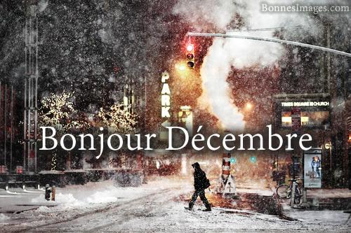 Bonjour Décembre
