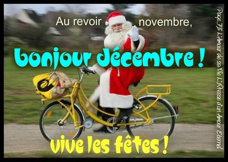 Au revoir novembre, bonjour décembre ! Vive les fêtes !
