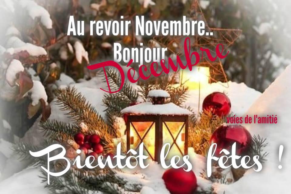 Au revoir Novembre... Bonjour Décembre