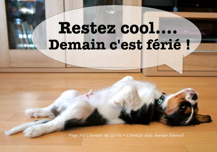 Restez cool... Demain c'est férié !