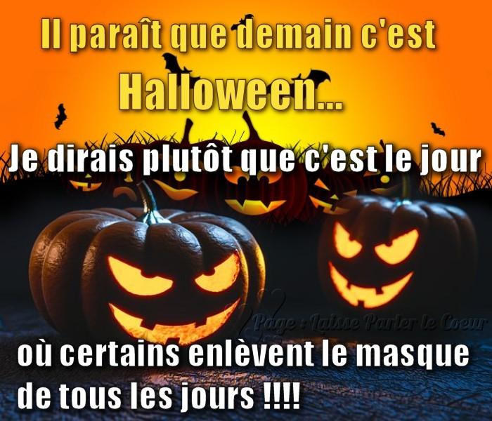 Il paraît que demain c'est Halloween...