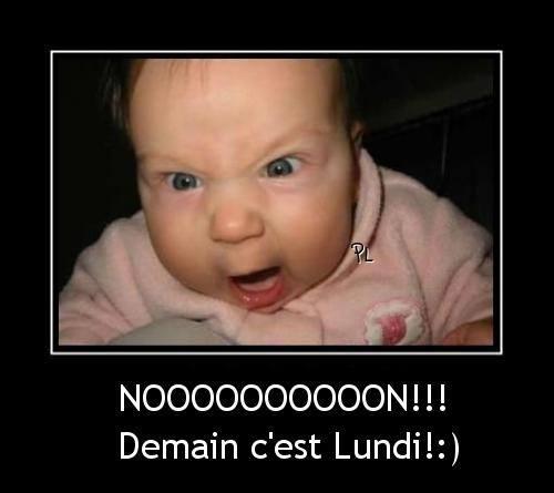 Nooooooooon!!! Demain c'est Lundi!