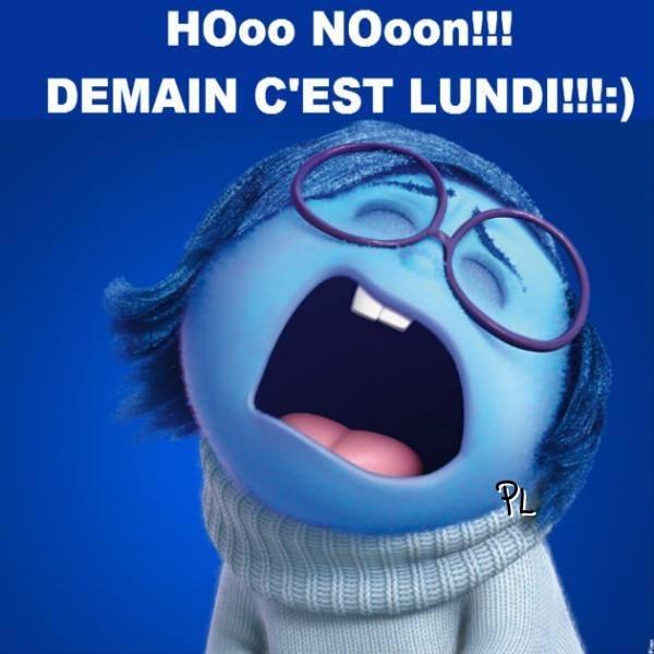 Hooo Nooon!!! Demain c'est lundi !!!