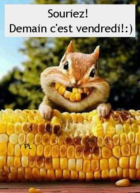 Souriez! Demain c'est vendredi! :)
