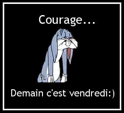 Courage... Demain c'est vendredi :)