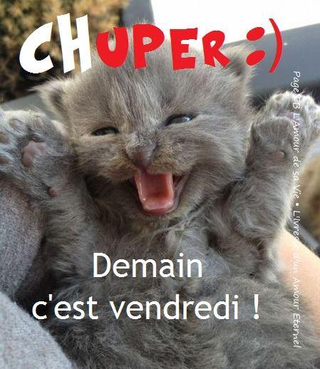 Chuper :) Demain c'est vendredi!