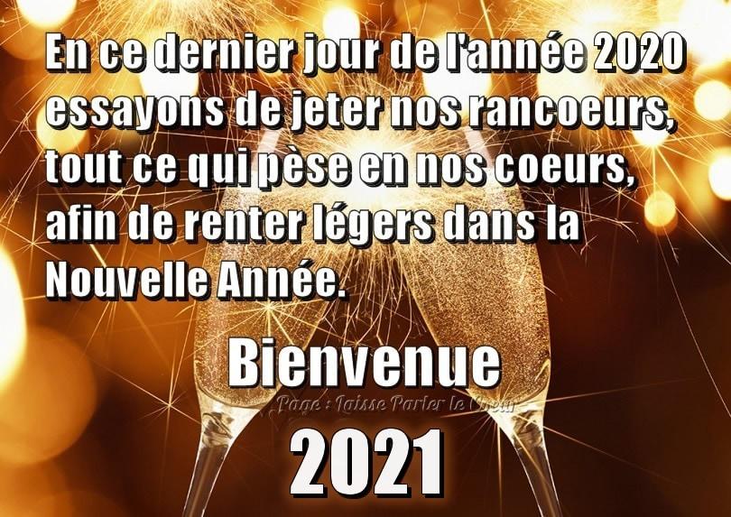 En ce dernier jour de l'année 2020...
