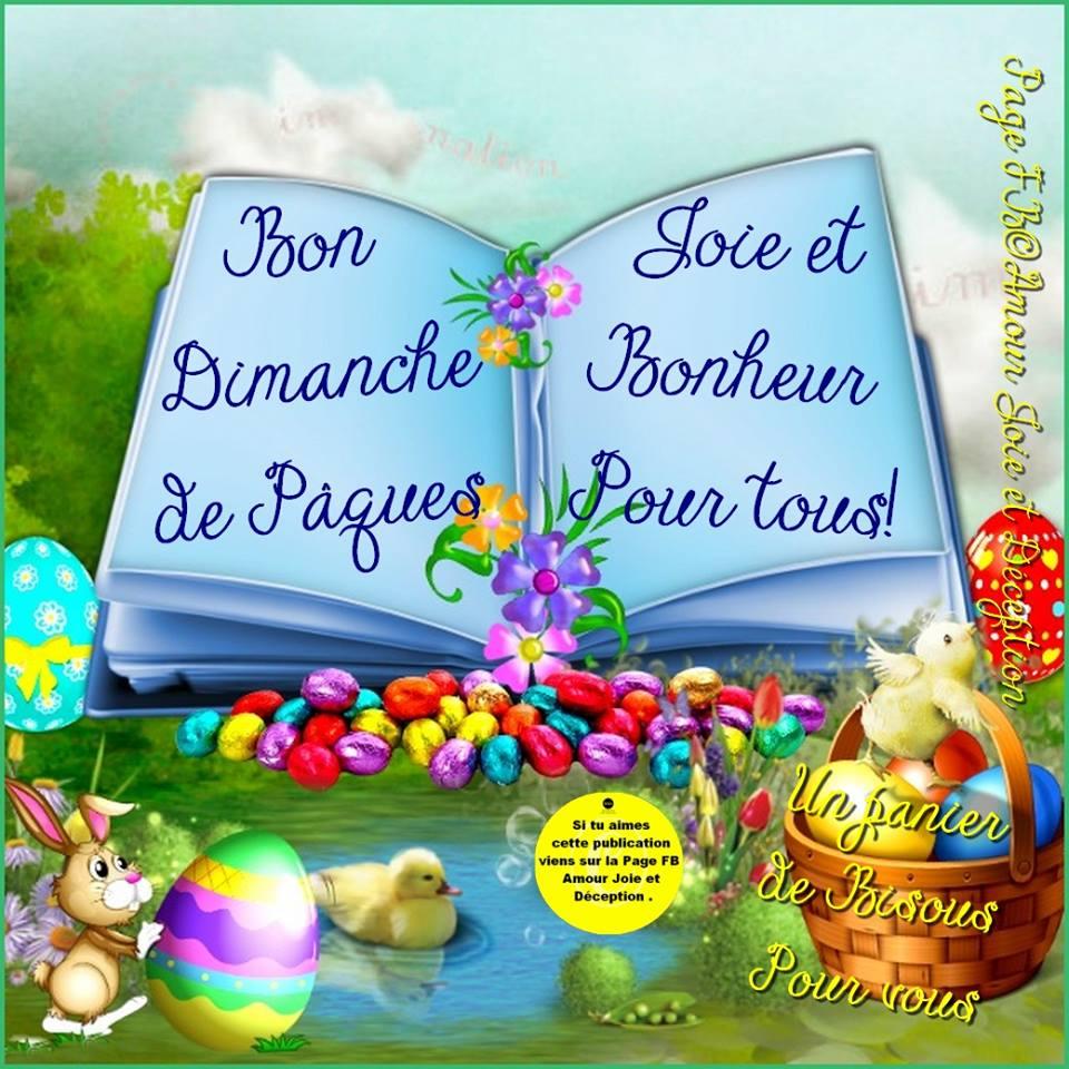 Bon Dimanche de Pâques, Joie et bonheur pour tous!