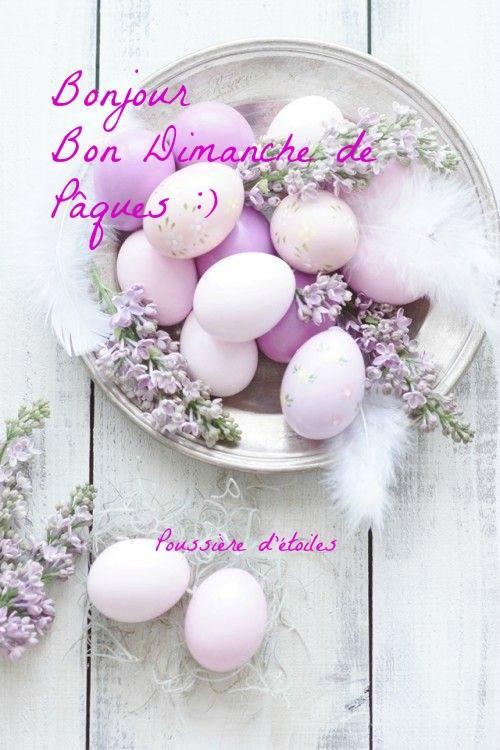 Bonjour, Bon Dimanche de Pâques :)