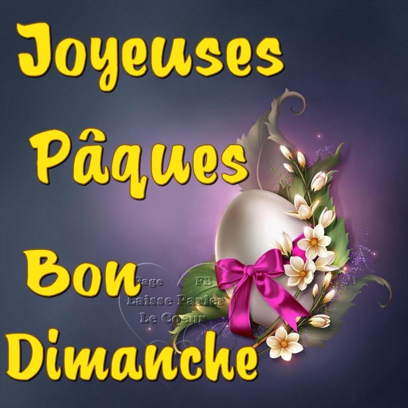 Joyeuses Pâques, Bon Dimanche