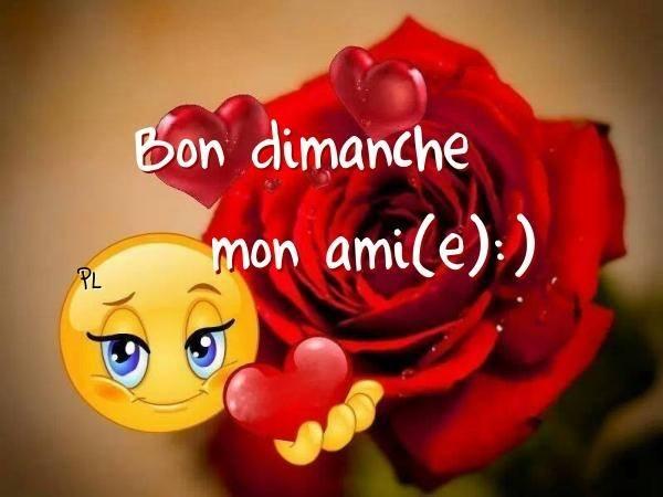 Bon dimache mon ami(e) <img src=