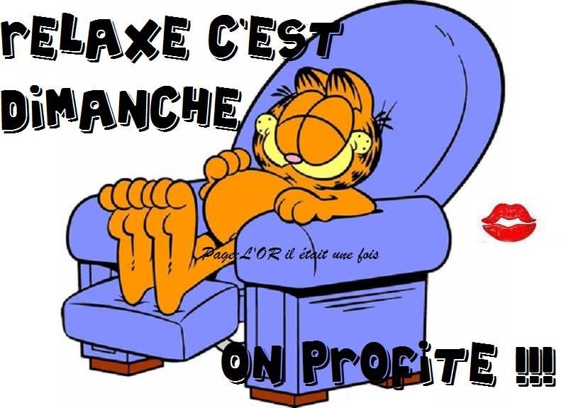 Relaxe c'est Dimanche... on profite !!!