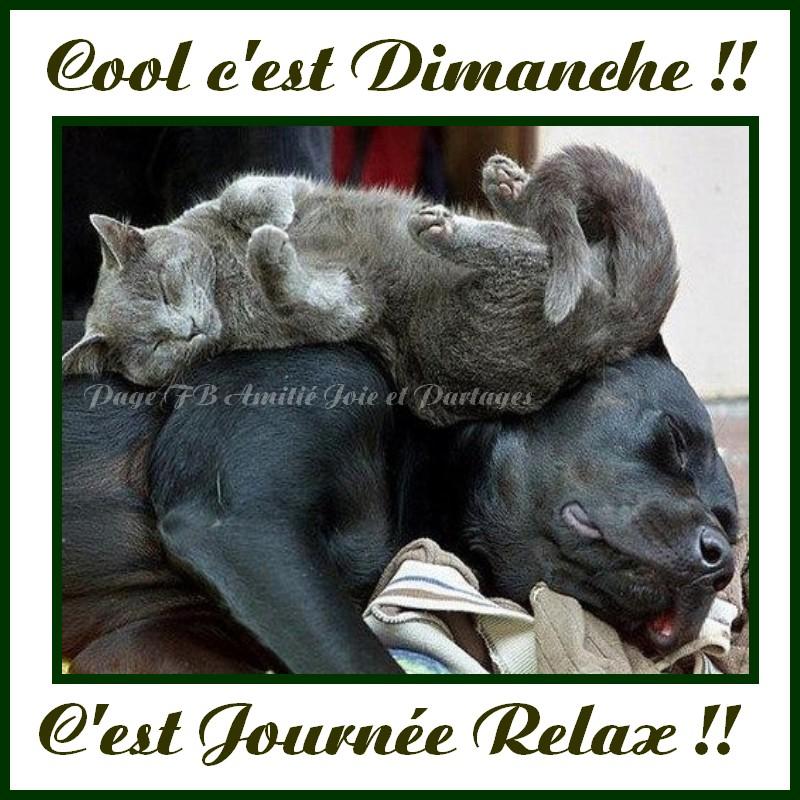 Cool c'est Dimanche !! C'est journée relax !!