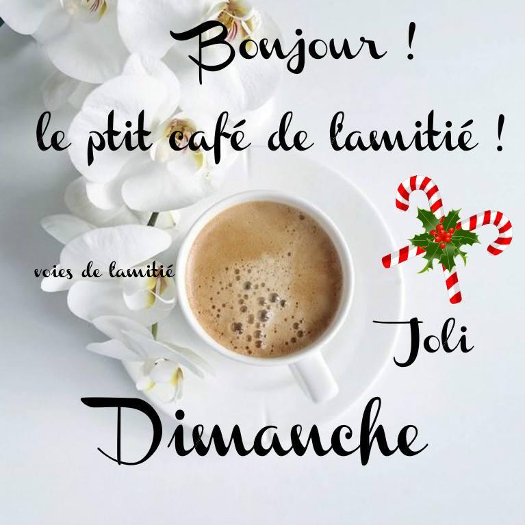 Bonjour ! le p'tit café de l'amitié ! Jolie Dimanche