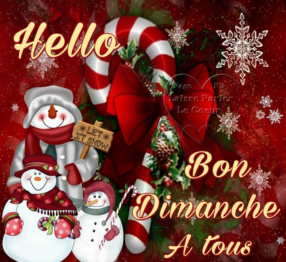 Hello, Bon Dimanche à tous