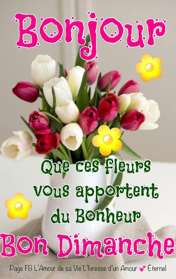 Bonjour. Que ces fleurs vous apportent...