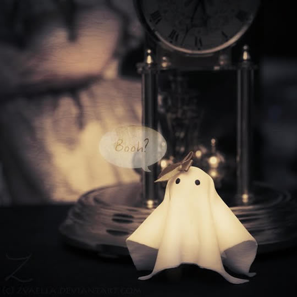 Petit fantôme serviette de table
