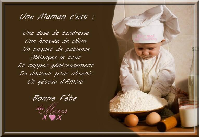 Bonne Fête des Mères! Une maman c'est...