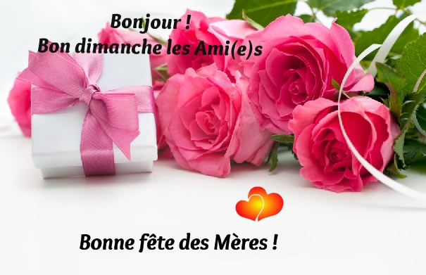 Bonjour ! Bon dimanche les Ami(e)s. Bonne fête des Mères !