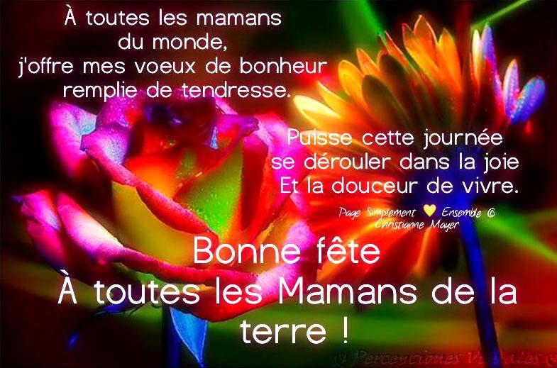 Bonne fête à toutes les mamans de la terre !