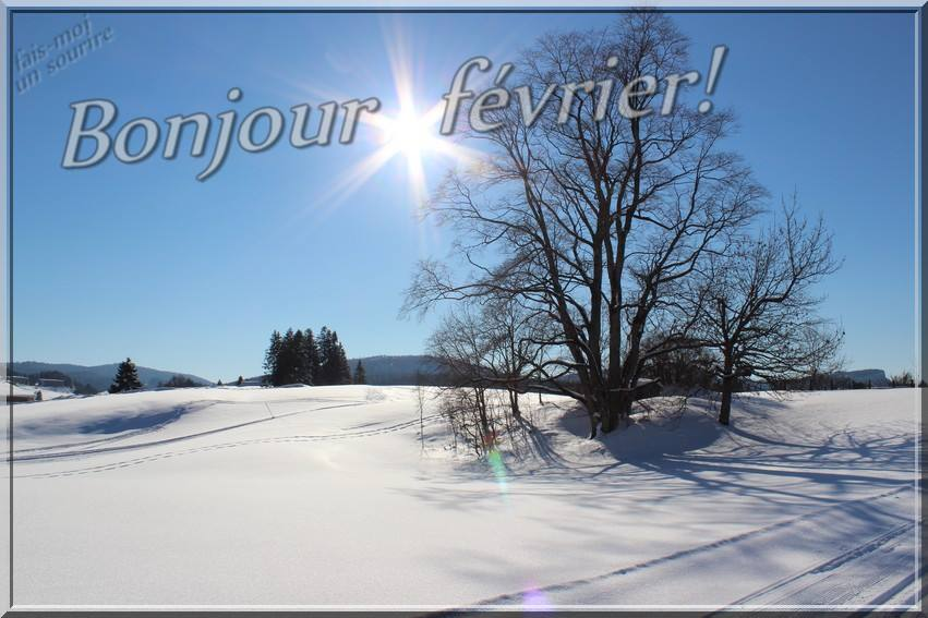 Bonjour février!