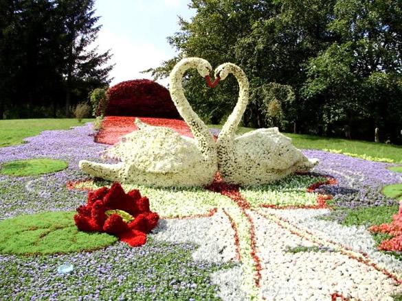 Sculpture en fleurs