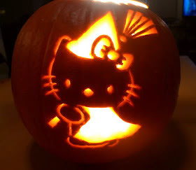 Citrouille d'haloween hello kitty
