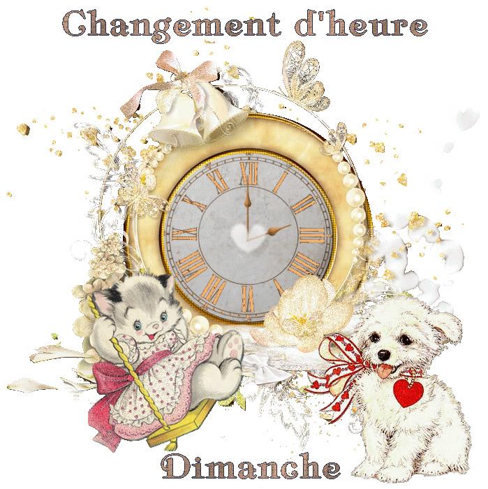 Changement d'heure Dimanche