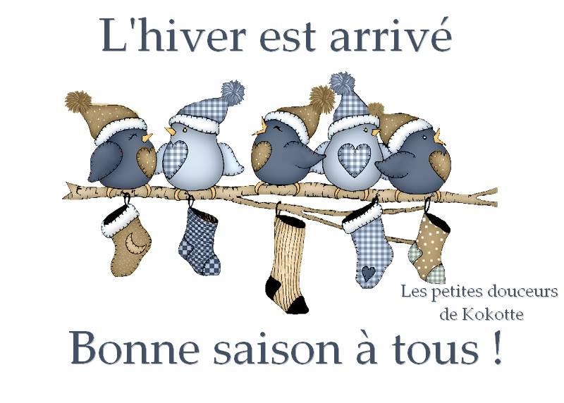 L'hiver est arrivé. Bonne saison à tous !