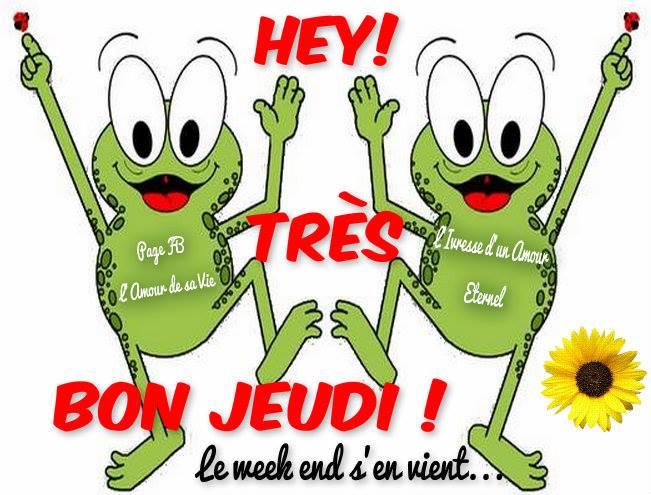 Hey! Très bon jeudi! Le week end s'en vient...