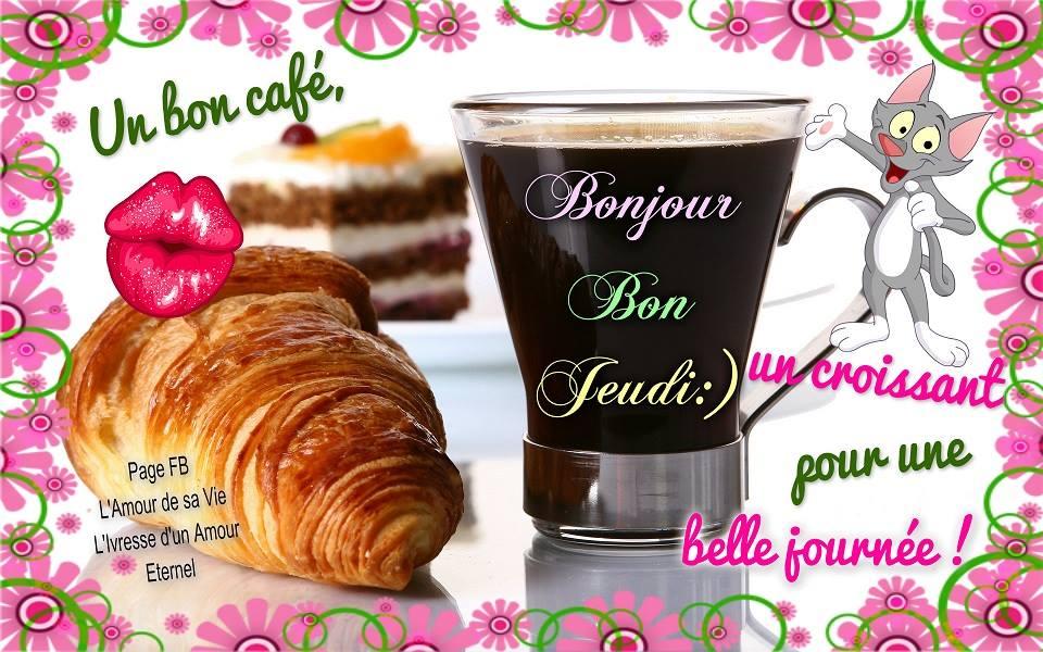 Un bon café, un croissant pour une belle journée!