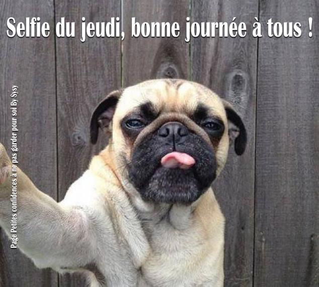 Selfie du jeudi, bonne journée à tous !