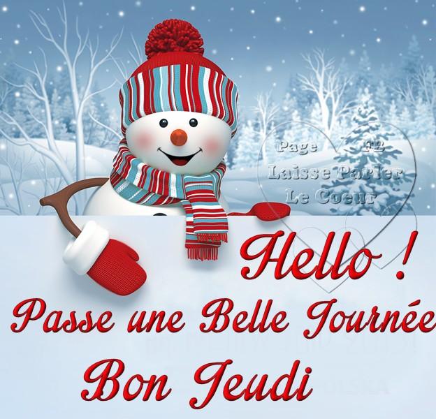 Hello ! Passe une Belle Journée, Bon Jeudi
