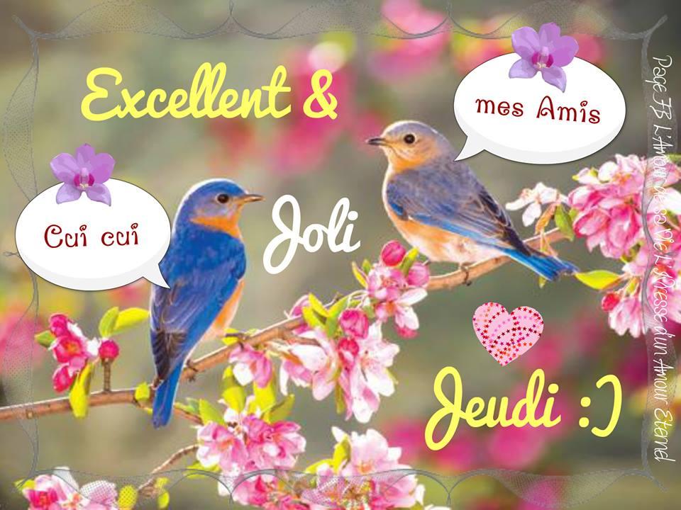 Excellent & Joli Jeudi :)