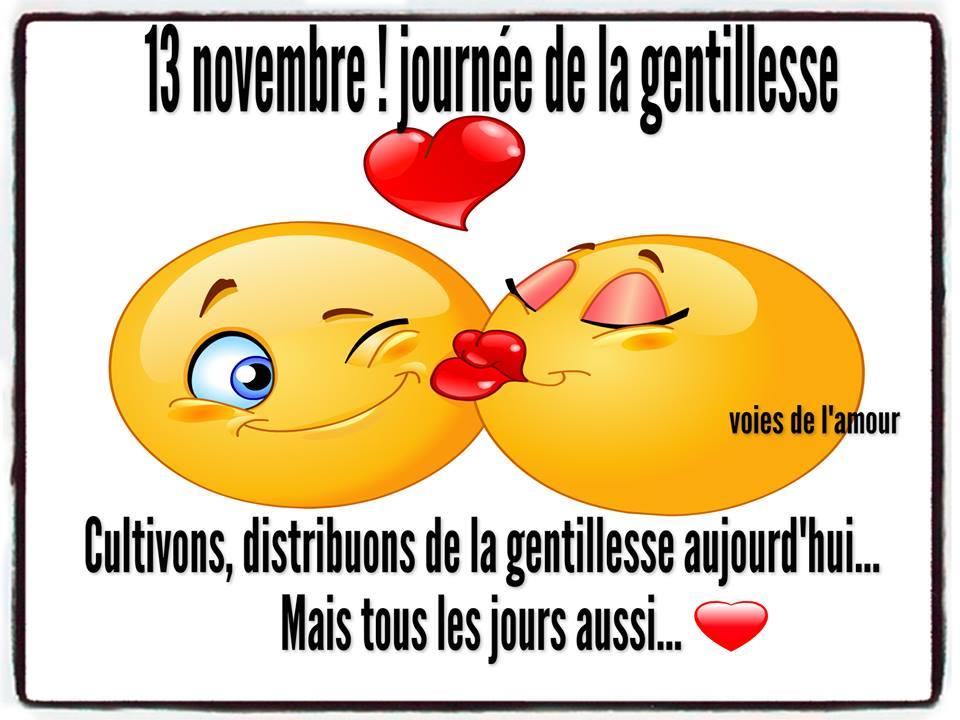 13 novembre ! journée de la gentillesse