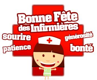 Bonne Fête des Infirmières sourie, patience, générosité, bonté
