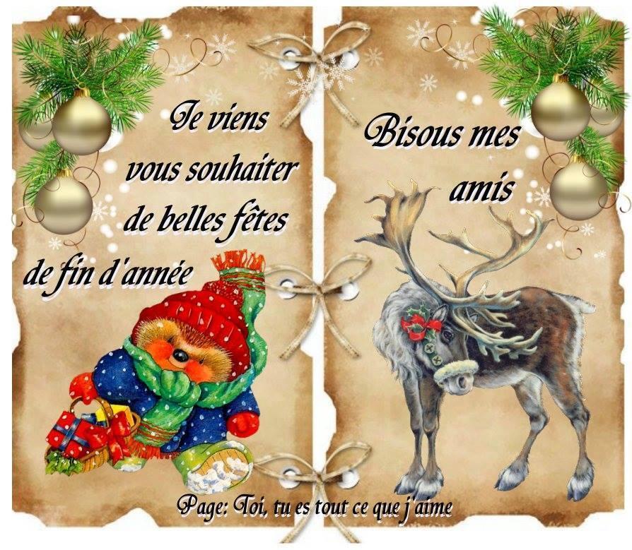 Je viens vous souhaiter de belles fêtes de fin d'année