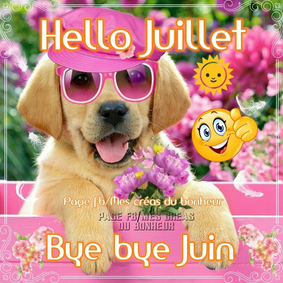 Hello Juillet. Bye bye Juin