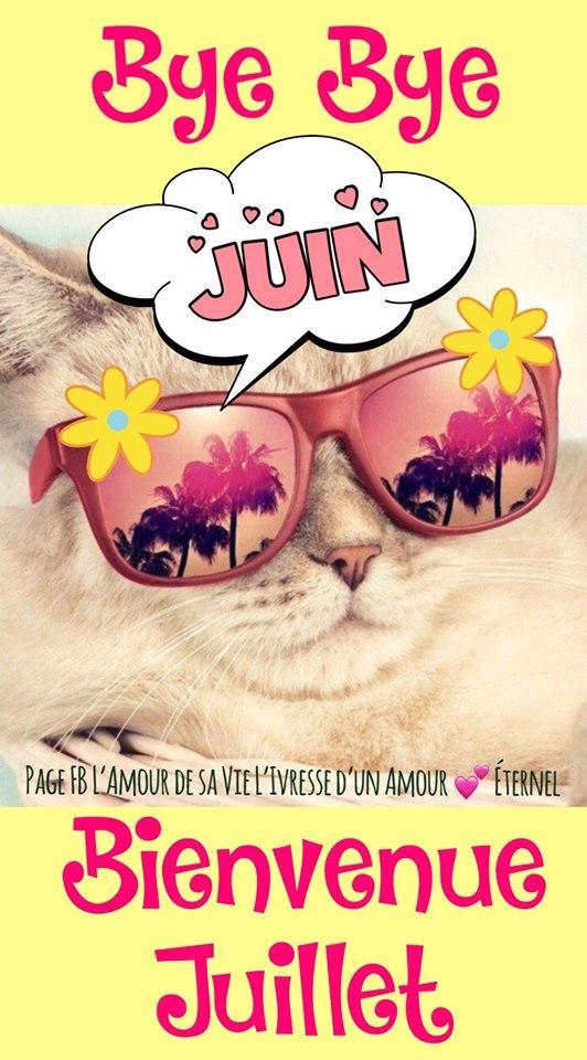 Bye Bye Juin Bienvenue Juillet