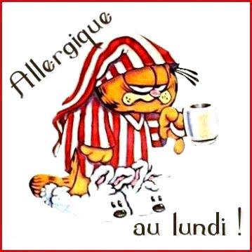 Allergique au lundi!