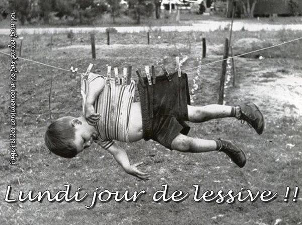 Lundi jour de lessive!