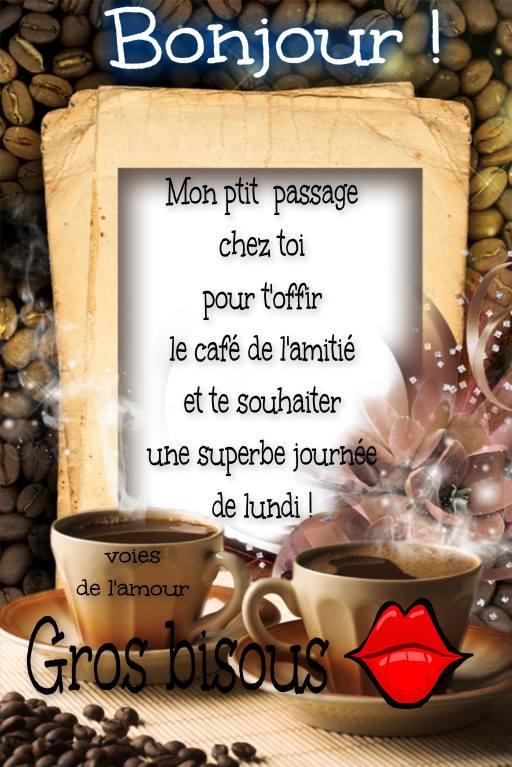 Bonjour ! Mon ptit passage chez toi pour t'offir le café...