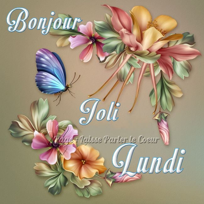 Bonjour, Joli Lundi