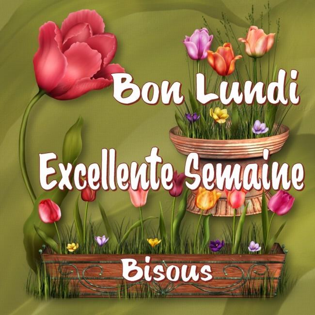 Bon Lundi, Excellente Semaine, Bisous
