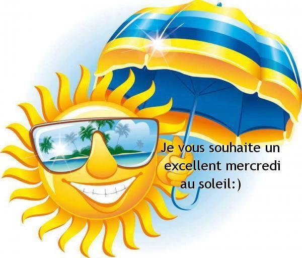 Je vous souhaite un excellent mercredi au soleil :)