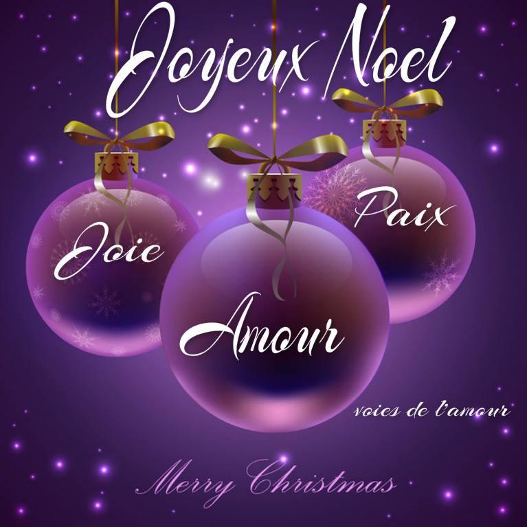 Joyeux Noël. Joie, Amour, Paix