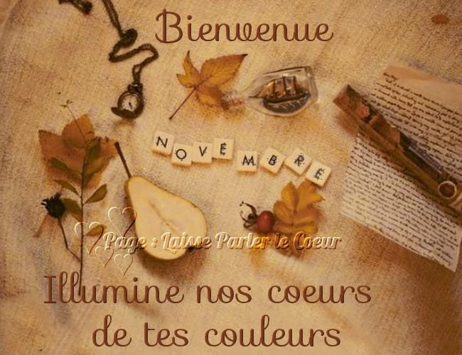 Bienvenue Novembre, illuminé nos coeurs de tes couleurs